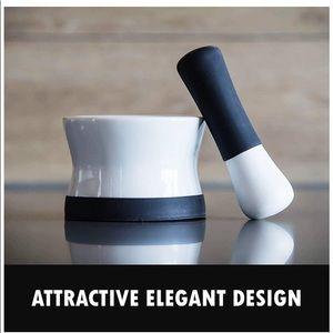 NWT EZ-Grip Silicone & Porcelain Mortar and Pestle